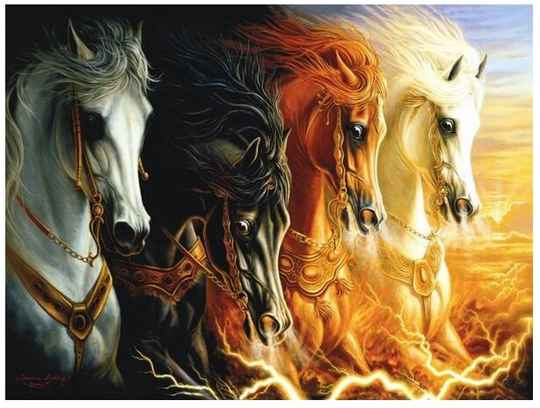 The 4 Horses of the Apocalypse -  Puzzle 2,000 pieces Gs14824