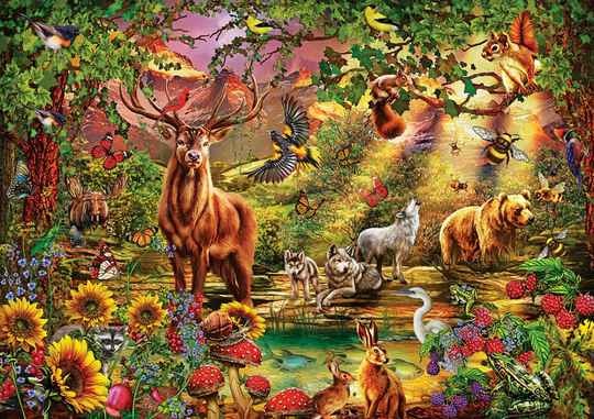Enchanted Forest-  Puzzle 1,000 pieces Gs13644