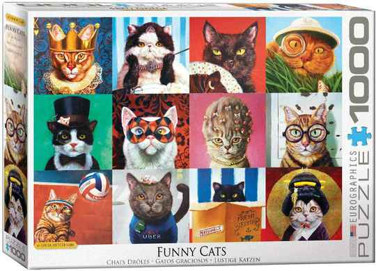Funny Cats -  Puzzle 1,000 pieces gs13665