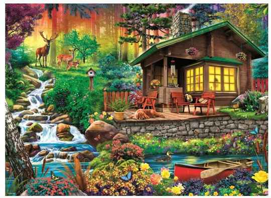 Cottage in the Forest -  Puzzle 3,000 pieces Gs14173