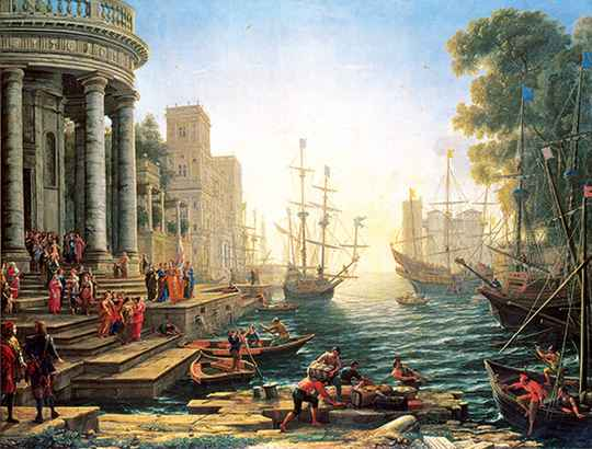 Seaport with the Embarkation of St. Ursula -  Puzzle 3,000 pieces Gs14972