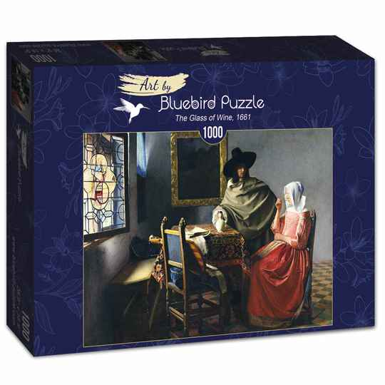 Johannes Vermeer - The Glass of Wine, 1661 -  Puzzle 1,000 piece gs15037