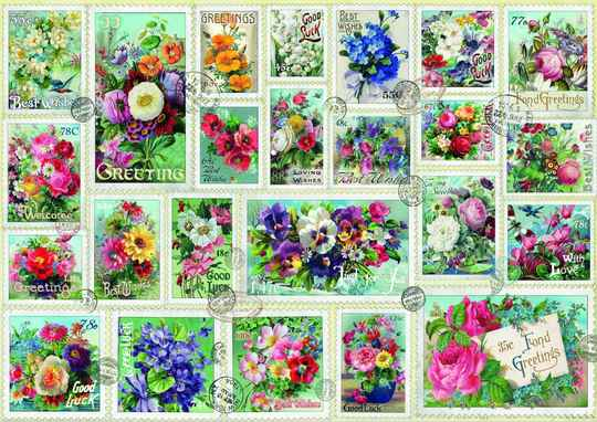 Stamp Flower Collection -  Puzzle 2,000 pieces gs14963