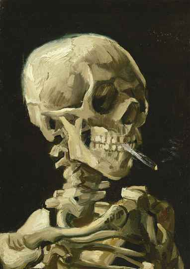 Vincent Van Gogh - Head of a Skeleton with a Burning Cigarette, 1886 -  Puzzle 1,000 pieces gs15036