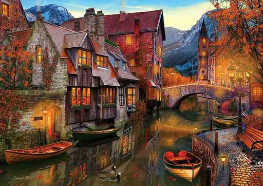 Canal Boats -  Puzzle 2,000 pieces Gs13556