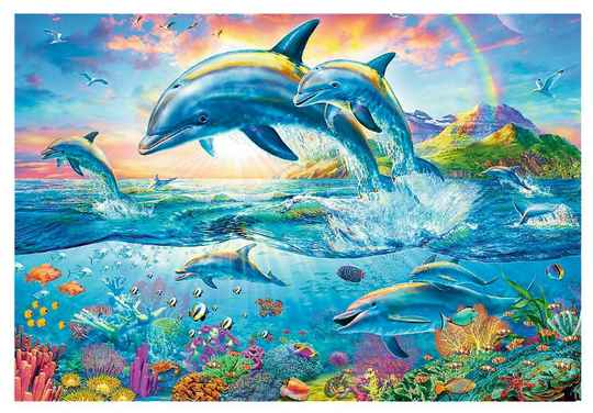 Dolphin Family -  Puzzle 1,500 pieces gs14313