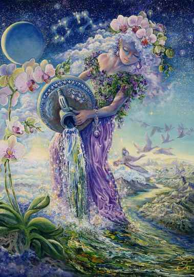 Josephine Wall   Zodiac Sign - Waterman  -  Puzzle 1,000 pieces