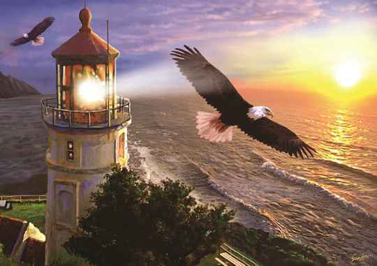 High Flight at the Sun Rise -  Puzzle 1,000 piece Gs14060
