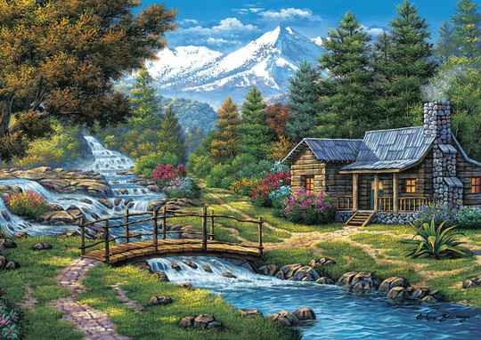Two Small Waterfalls -  Puzzle 2,000 pieces gs13558
