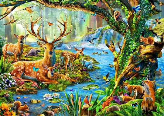 Forest Life -  Puzzle 1,500 pieces Gs13667