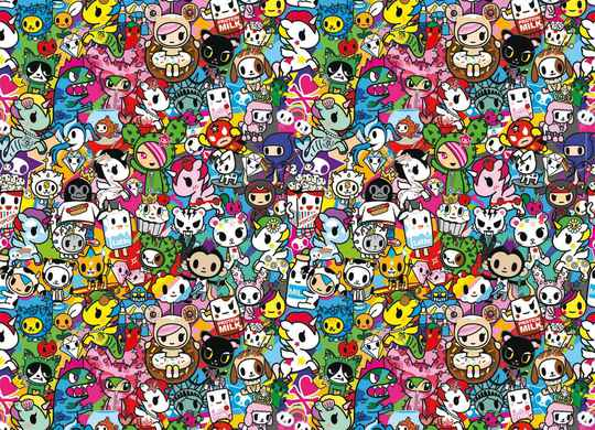 Impossible Puzzle - Tokidoki -  1,000 pieces Gs14879