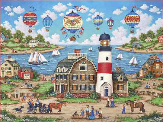 Balloons Over the Bay -  Puzzle 550 pieces Gs15163