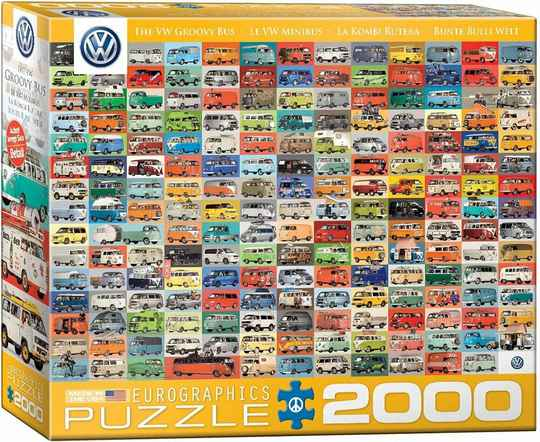 Volkswagon Groovy Bus Collage -  Puzzle 2,000 pieces GS13552