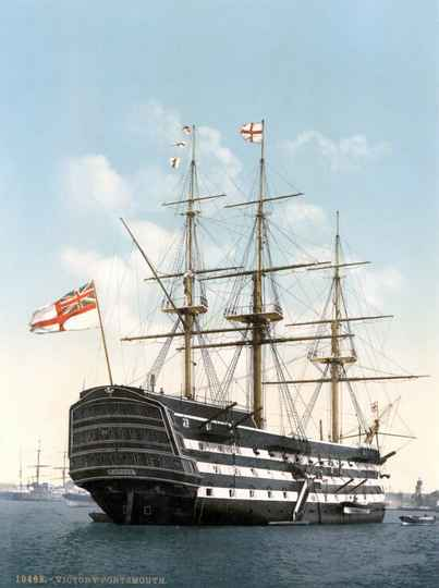 HMS Victory in Portsmouth, 1900 -  Puzzle 2,000 pieces Gs14956