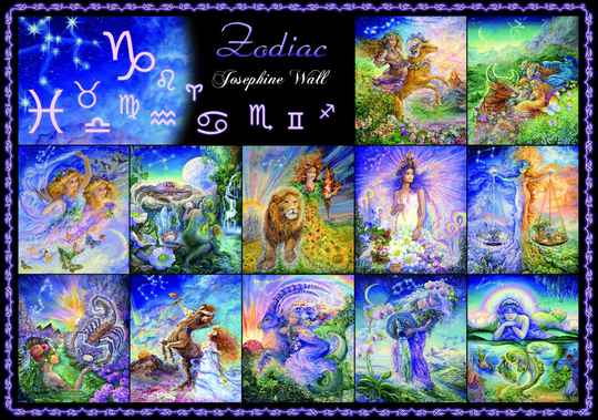 Josephine Wall -  Zodiac Signs -  Puzzle 1,000 pieces Gs14951