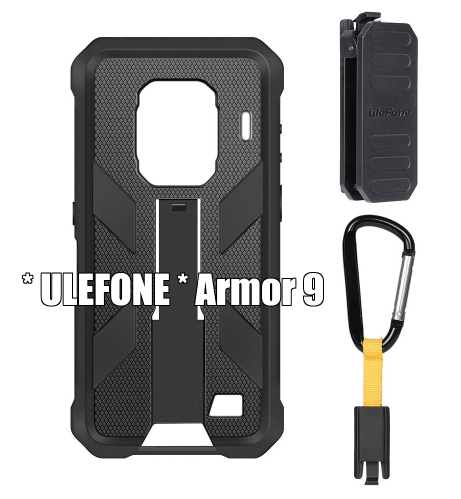 * ULEFONE * Armor 9 Original Case with Belt Clip and Carabiner
