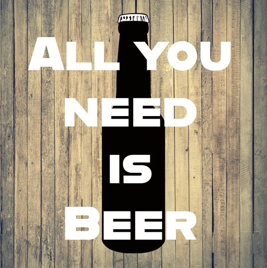 """Textielframe """"All you need is beer"""""""