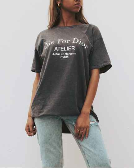 Edgy Die for D tshirt grey