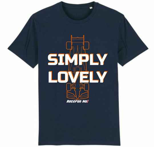 """T-Shirt """"Simply Lovely""""   Navy Blue"""