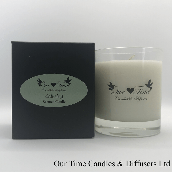 Large Wax Filled Candle Calming
