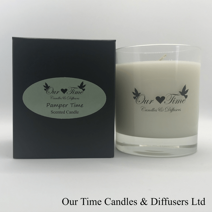 Large Wax Filled Candle Pamper Time