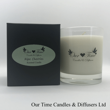 Large Wax Filled Candle Ripe Cherries