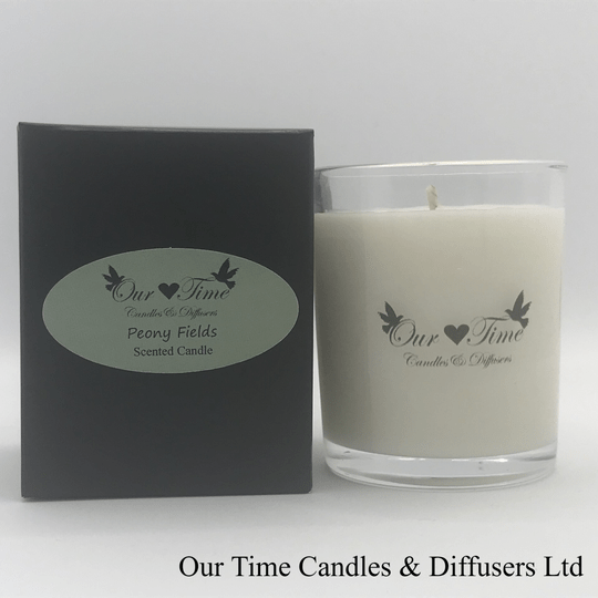 Small Wax Filled Candle Peony Fields