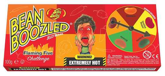 Bean Boozled Jelly Beans Flaming Five Challenge