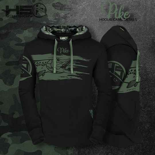 Hoodie Pike with camo detail
