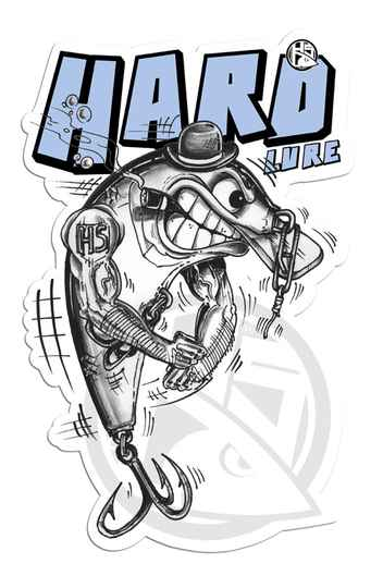 Sticker Hard Lure 15x10cm