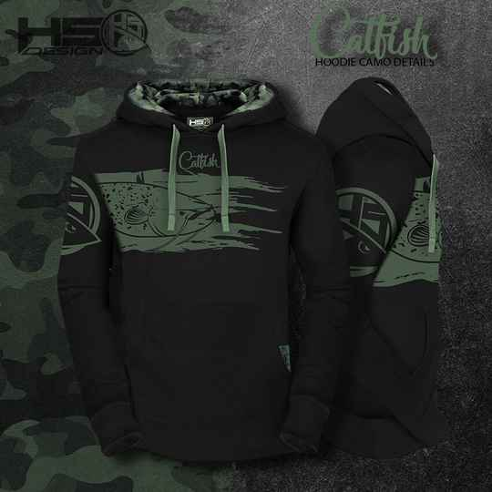 Hoodie Catfish with camo detail