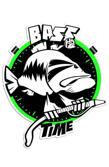 Sticker Bass Time 10x12 cm