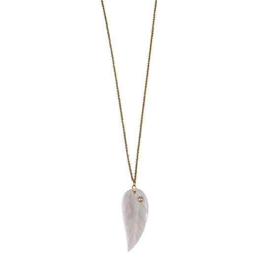 Necklace Feather (long)