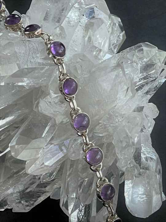 Amethyst Armband Cabochon rond