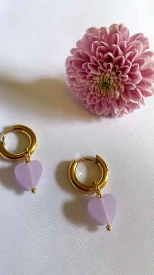 CAMILLE EARRINGS LILAC