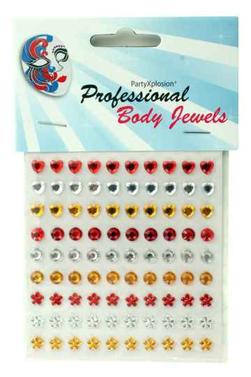 PXP Professional Colours Decoratiestickers 90 st assortie model rood-wit-gee