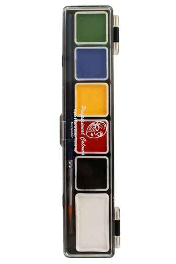PXP Professional Colours palet essential colours 5 x 3 and 1 x 6 gram with a brush 43702