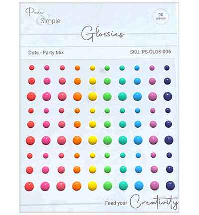 Pure & Simple Dots, Party Mix (PS-GLOS-005)