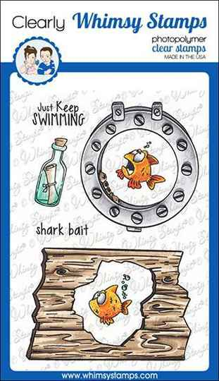 Whimsy Stamps Stempel - Lookin´ Shark Elements (DP1068)