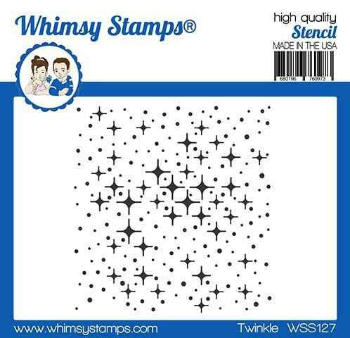 Whimsy Stamps Schablone - Twinkle (WSS127)