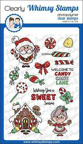 Whimsy Stamps Stempel - Candy Cane Lane (KHB142)