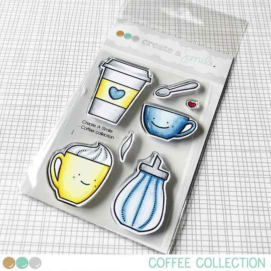 Create A Smile Stempel - Coffee Collection