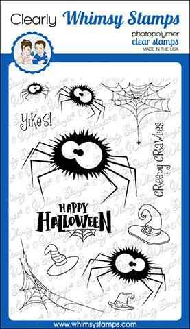 Whimsy Stamps Stempel - Fuzzy Spiders (CWSD285)