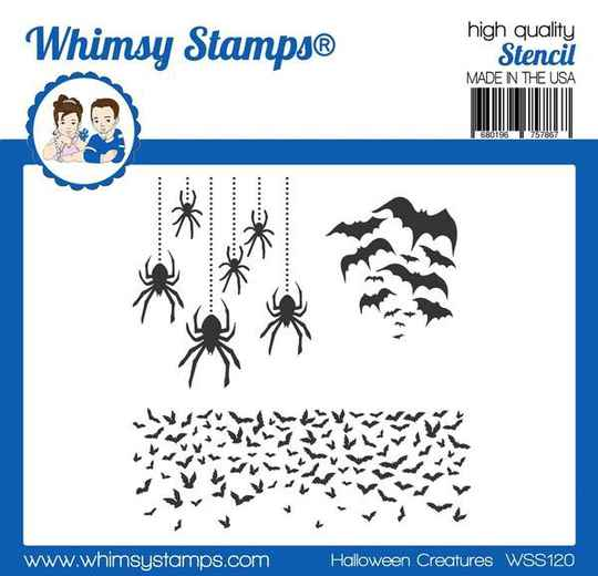 Whimsy Stamps Schablone - Halloween Creatures (WSS120)