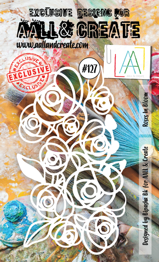 AALL & Create Schablone - Bloomed Roses #127