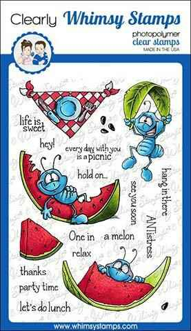 Whimsy Stamps Stempel - Ants at a Picnic (DP1014)