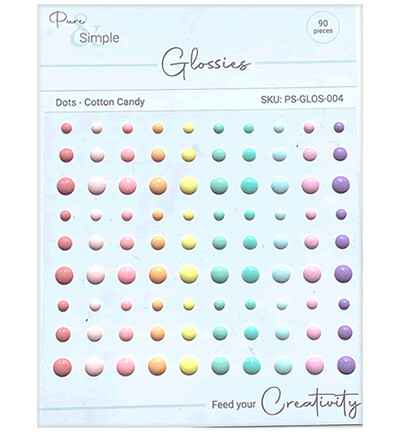 Pure & Simple Dots, Cotton Candy (PS-GLOS-004)