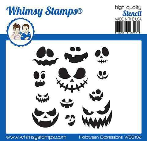 Whimsy Stamps Schablone - Halloween Expressions (WSS132)