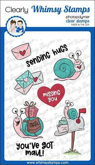 Whimsy Stamps Stempel - Snail Mail (KHB100a)