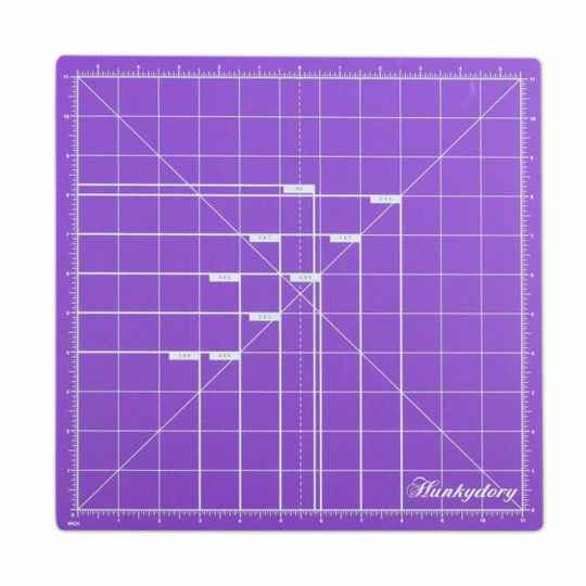 """Hunkydory Premier Craft Tools - Double-Sided Cuttin Mat 12x12"""" (PCT10)"""
